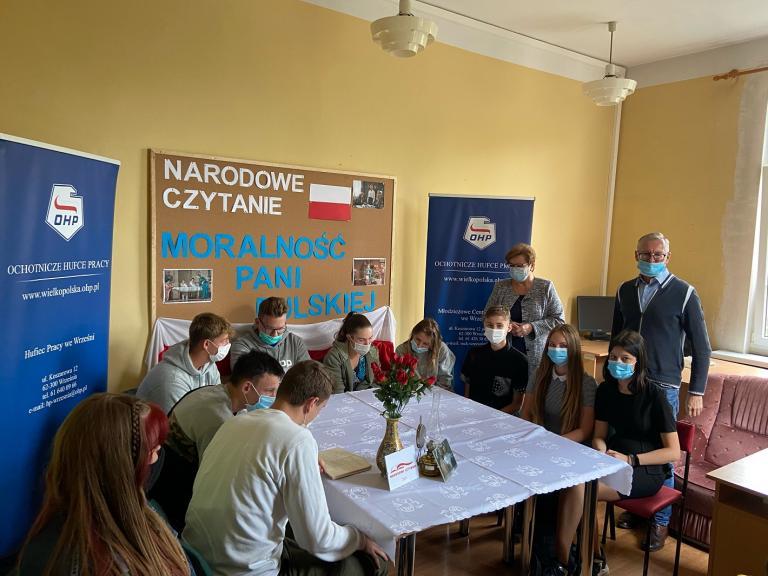Narodowe Czytanie w Hufcu Pracy we Wrześni