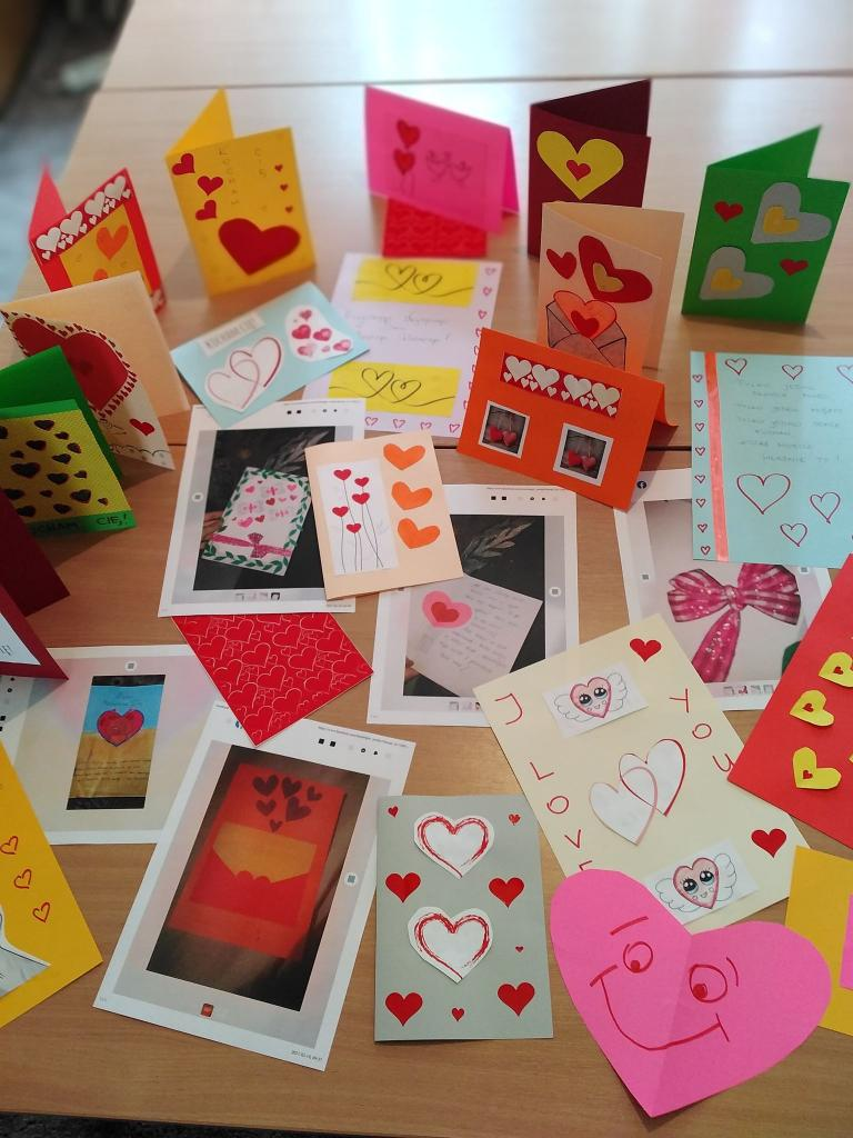 """""""Hufcowe Love"""" – konkurs plastyczny na najpiękniejszą kartkę walentynkową z życzeniami w Tomaszowie Lubelskim"""