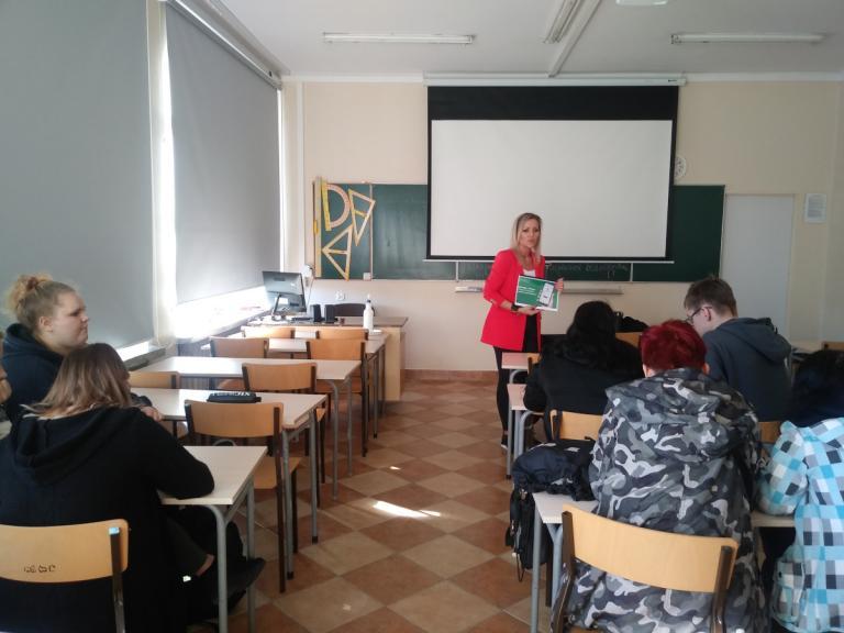 Białystok: Doradcy zawodowi na zajęciach w Zespole Szkół Zawodowych nr 5