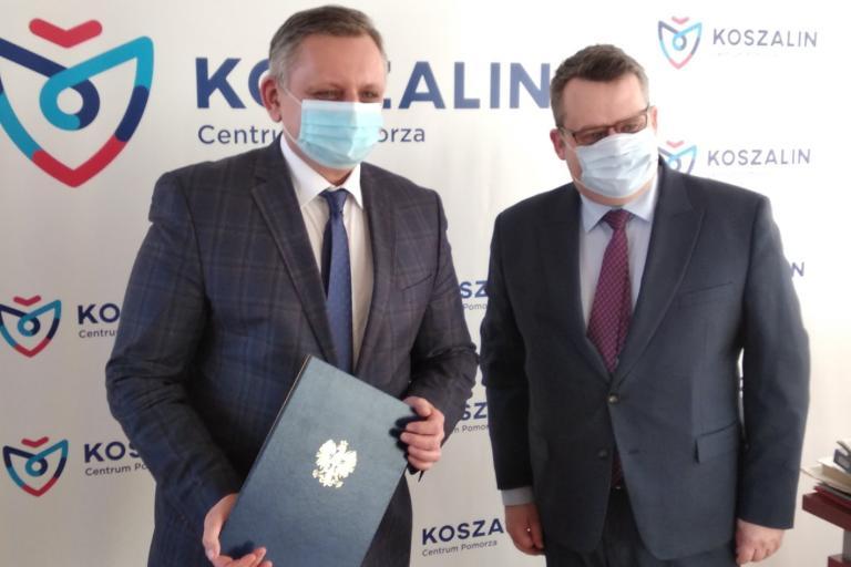 Podziękowanie dla Prezydenta Koszalina