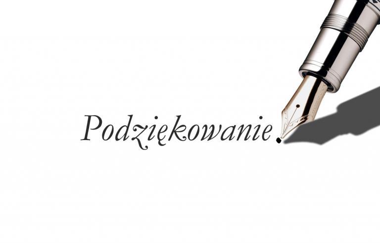 Podziękowanie dla Komendanta Głównego OHP Pana Grzegorza Waltera od pracowników Ośrodka RELAKS w Wiśle