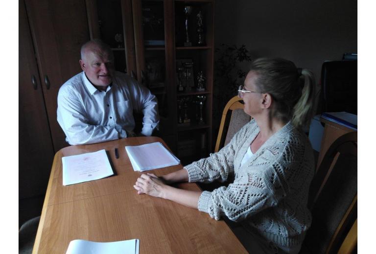 Spotkanie Komendant Hufca Pracy w Gostyniu z Dyrektorem Szkoły Branżowej