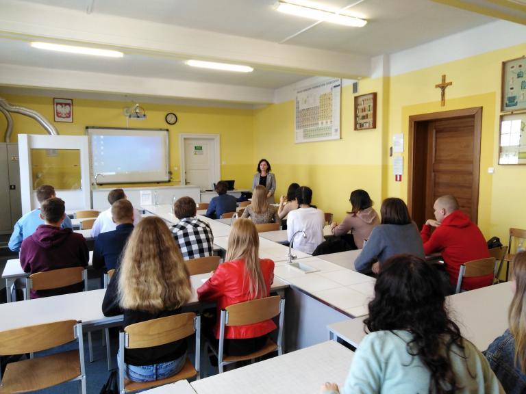 Zajęcia informacyjno-warsztatowe dla uczniów ZSO w Gostyniu