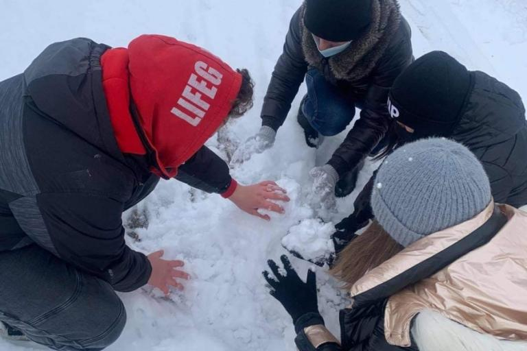 Kolno: Zabawy na śniegu