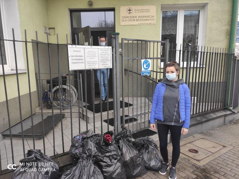 Odzieżowa pomoc w Hufcu Pracy w Lublinie
