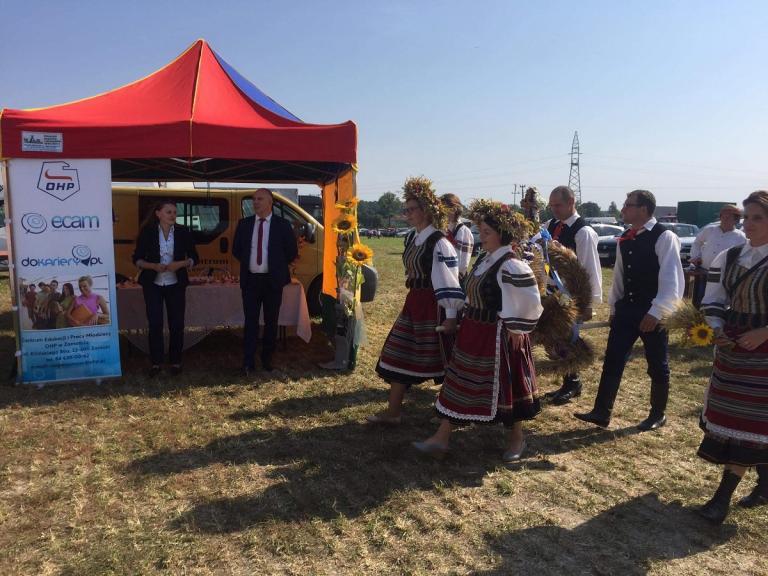 Promocja OHP na dożynkach wojewódzkich w Lubyczy Królewskiej