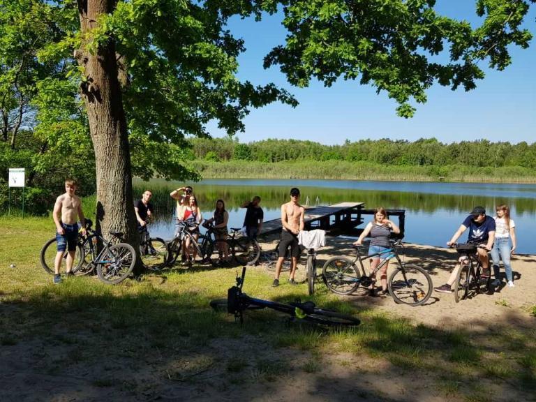 Wycieczka rowerowa nad jezioro