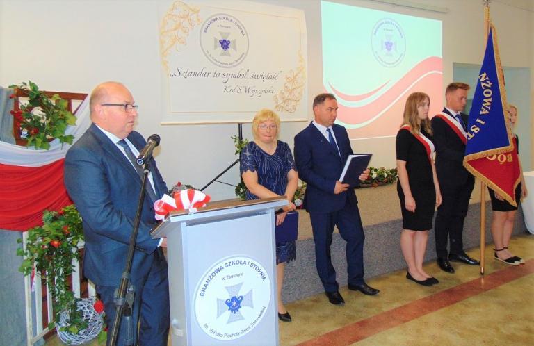 Uroczyste nadanie sztandaru Szkole Branżowej I stopnia w Tarnowie