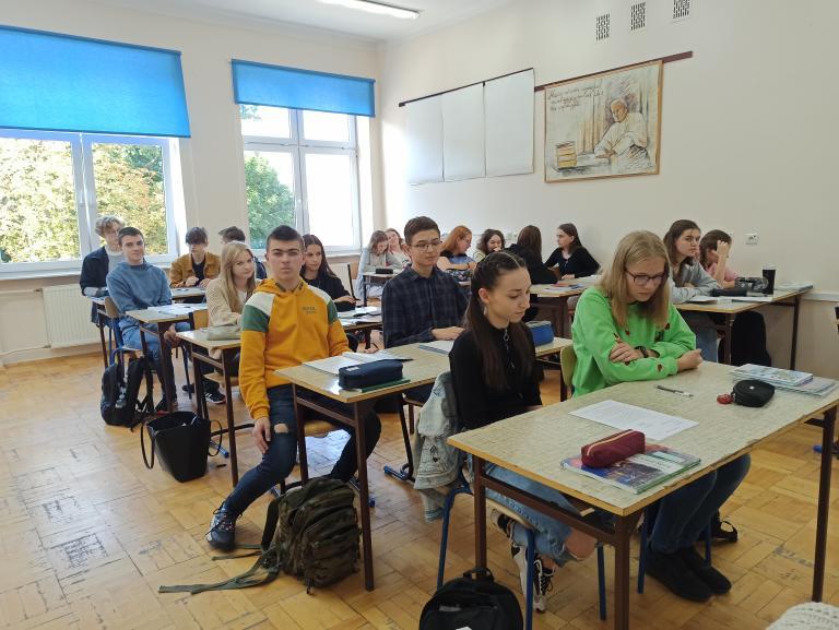 Zajęcia z doradztwa zawodowego w Liceum Ogólnokształcącym w Janowie Lubelskim