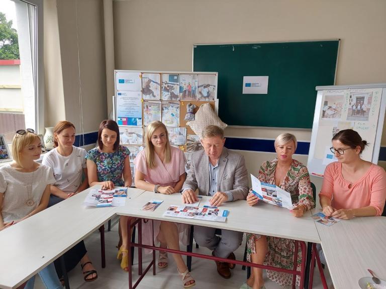 Spotkanie z dyrektorami szkół w wolsztyńskim Hufcu Pracy