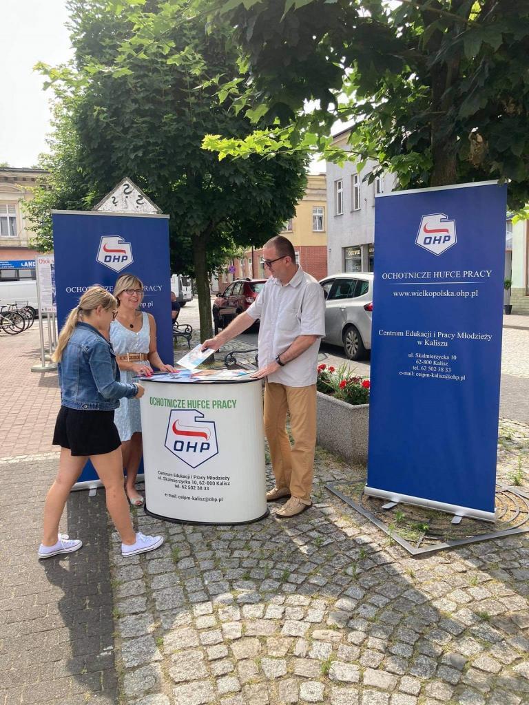 Akcja informacyjno-promocyjna w Hufcu Pracy w Ostrzeszowie