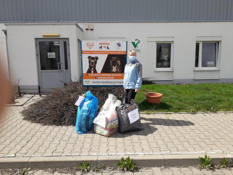 Hufiec Pracy w Lublinie: Rada Młodzieży zakończyła akcję pomocy bezdomnym zwierzętom