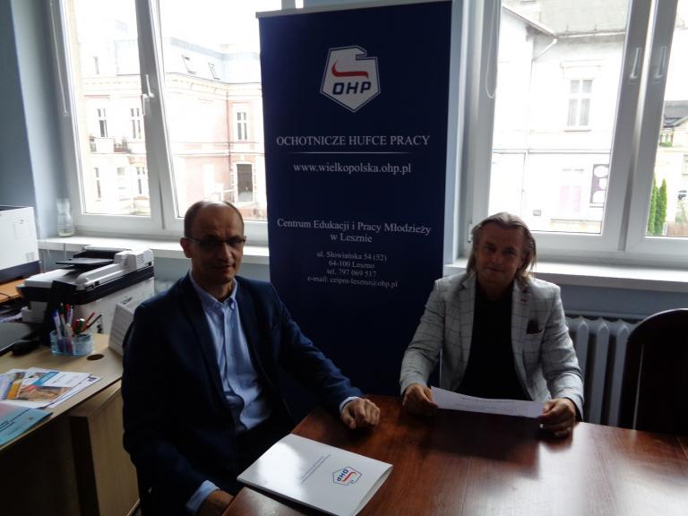 Spotkanie Zastępcy WW Komendanta OHP z Dyrektorem CEiPM w Lesznie