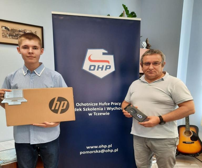 Pierwsze miejsce uczestnika OSiW Tczew w Ogólnopolskim Konkursie Wiedzy Informatycznej Młodzieży O