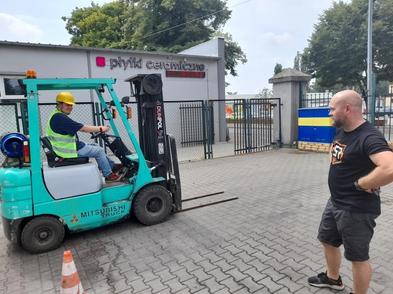 """Zakończenie szkolenia zawodowego """"Operator wózka jezdniowego z bezpieczną wymianą butli gazowej"""""""