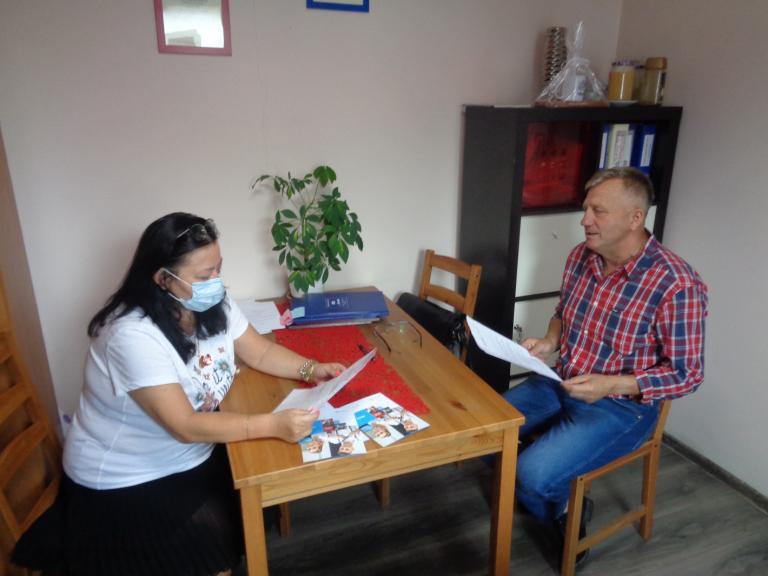 Spotkanie Komendant Hufca Pracy w Kłecku z Dyrektorem Szkoły Branżowej