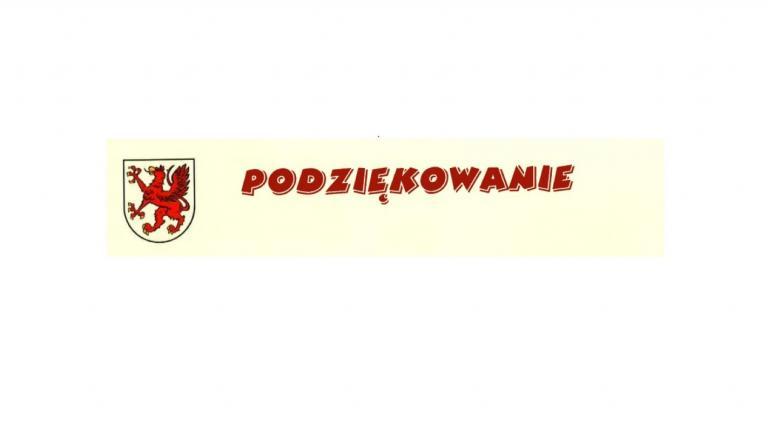 Podziękowania dla Pana Grzegorza Waltera Komendanta Głównego Ochotniczych Hufców Pracy w Warszawie