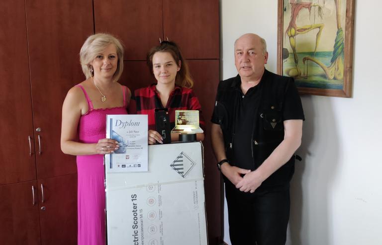 Konkurs Informatyczny OHP: Nagroda dla Julii Mazur z Hufca Pracy w Chełmie