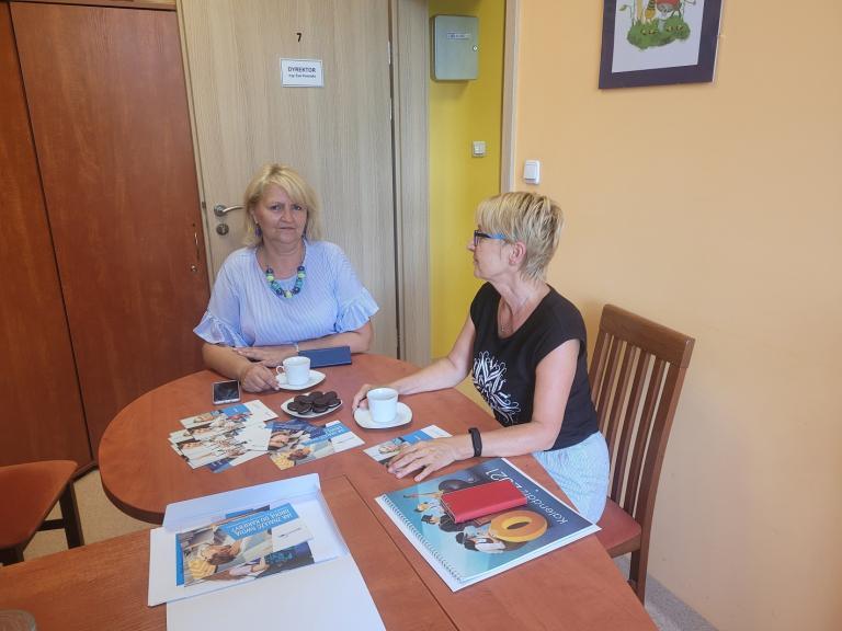 Spotkanie Komendant Hufca Pracy w Lesznie z Dyrektor Poradni Psychologiczno-Pedagogicznej