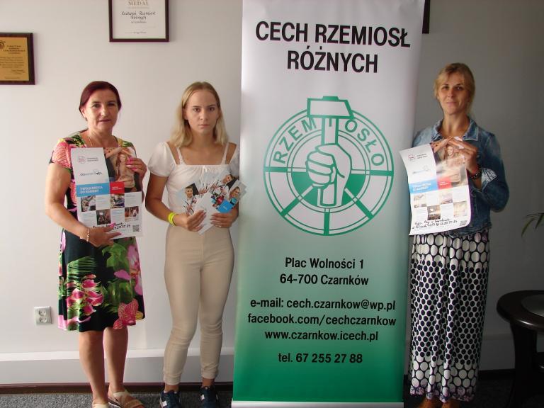 Spotkanie kadry HP i MCK w Czarnkowie z Dyrektor Cechu Rzemiosł Różnych