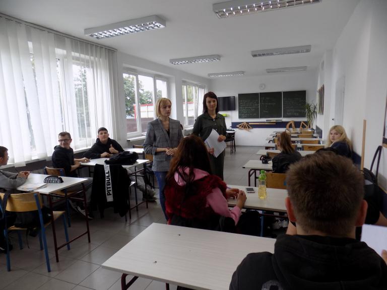 MCK Wolsztyn na zajęciach informacyjno-warsztatowych w miejscowym Hufcu Pracy