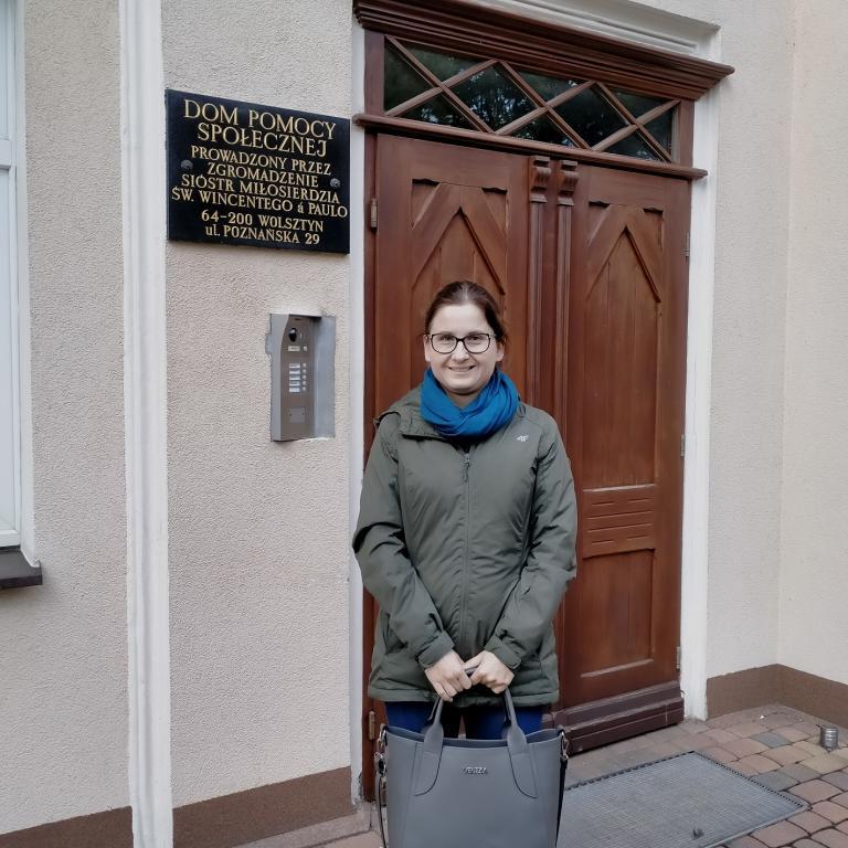 Kadra Hufca Pracy w Wolsztynie z wizytą w Domu Pomocy Społecznej