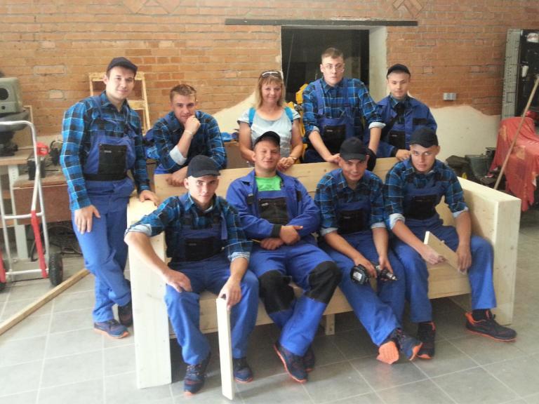 Młodzi budowlańcy z OSiW Wasilków i Hufca Pracy Kolno na zagranicznym stażu zawodowym w Lipsku