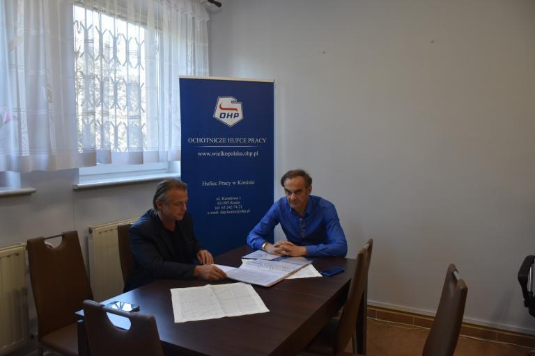Wizyta Zastępcy WW Komendanta w Hufcu Pracy w Koninie oraz w Licheniu