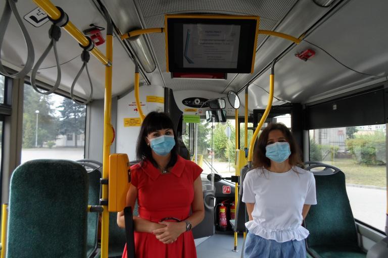 Promocja jednostek OHP w autobusach miejskich w Pile
