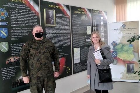 Z wizytą w 18 Łomżyńskim Pułku Logistycznym