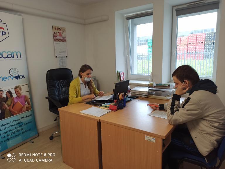 Zamość: Indywidualne zajęcia z doradcą zawodowym