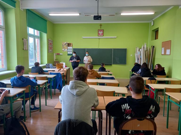 Warsztaty zawodoznawcze z ósmoklasistami w Krotoszynie