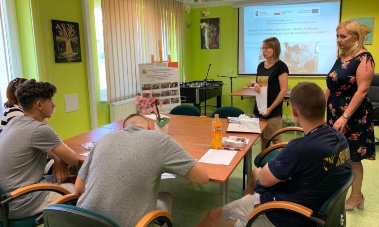 Zambrów: Spotkanie przed wyjazdem na staż zawodowy do Niemiec