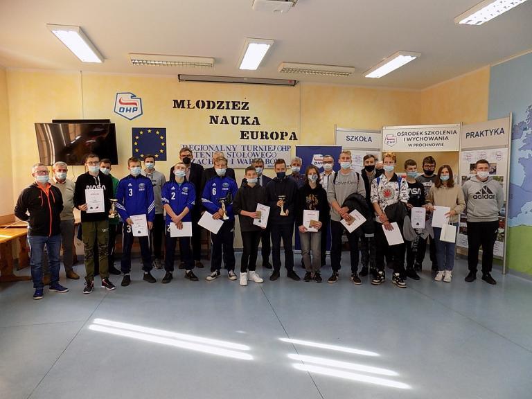 Regionalny Turniej Tenisa Stołowego, Szachów i Warcabów w OSiW w Próchnowie